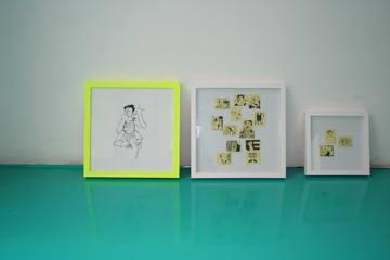 Anna Neumann Illustration Post-it! No. 1 & No. 2 Illustration im Rahmen